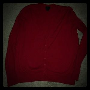 Worthington Red Cardigan Sweater